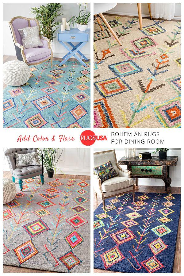 rug whisper online blu products vision rugs modern blue boho etn maddiebelle tribal bohemian